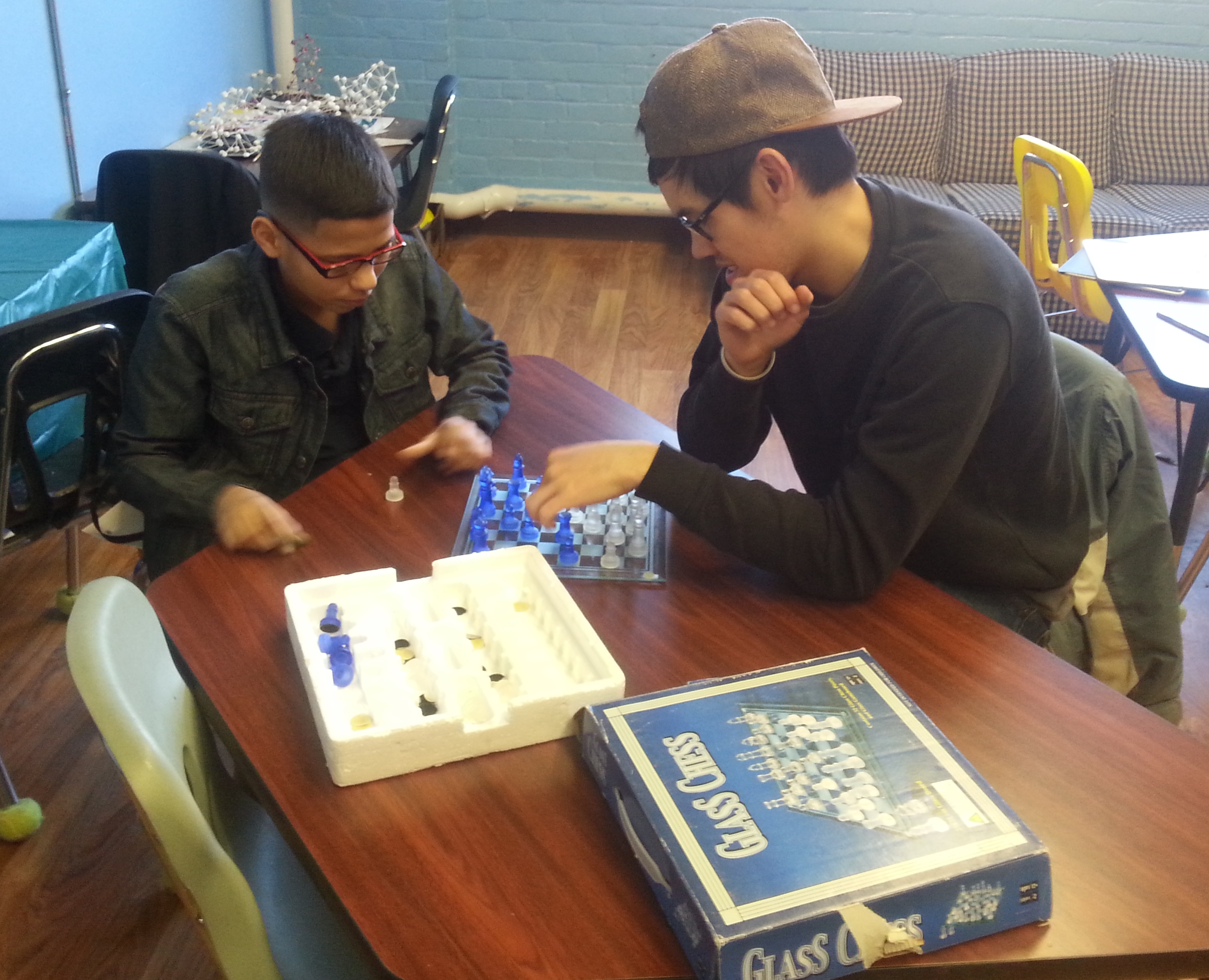 Jorge And ben playing chess